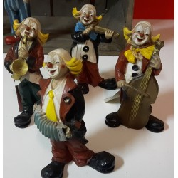 Clowntjes met instrumenten 11 cm hoog For Mano
