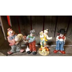 Clowntjes 15 cm hoog € 5,- per stuk of 4 voor € 15,-