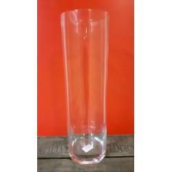 Vaas glas 50 cm hoog 15 cm doorsnee