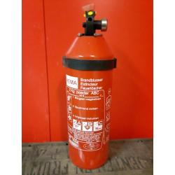 Brandblusser 2 kg poeder met manometer