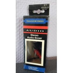 Stereo Audio snoer 0.2 Mtr. 5 polig naar 2 tulppluggen
