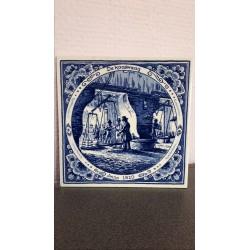 Delfts blauw handgeschilder tegeltje