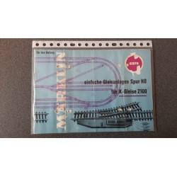 Märklin folders - flyers - informatie Einfache Gleisanlagen Spur H0 0321