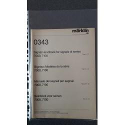 Märklin folders - flyers - informatie Signalbuch 0343