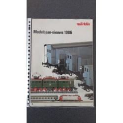 Märklin folders - flyers - informatie Modelbaan-nieuws 1986
