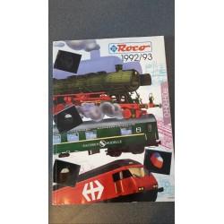 Roco folders - flyers - informatie - Catalogus O-H0-Hoe 1992/93