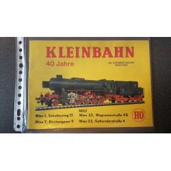 Kleinbahn folders - flyers - informatie - Catalogus 40 Jahre
