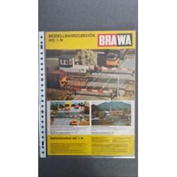 Brawa folders - flyers - informatie - Modellbahnzubehör H0 + N
