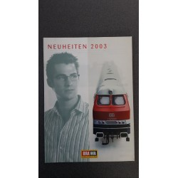 Brawa folders - flyers - informatie - Neuheiten 2003