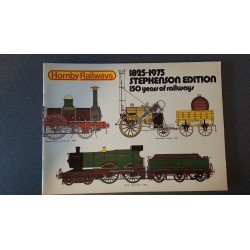 Hornby folders - flyers - informatie - 1825-1975 Stephenson Edition 150 years of Railways