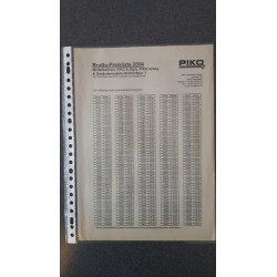 Piko folders - flyers - informatie - Prijslijst 2004