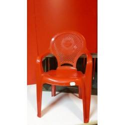 Kinderstoeltje rood PVC