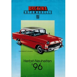 Brekina Brochure - folder Herbst-Neuheiten '96