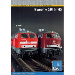 ESU Folder Neuheit 2011 Baureihe 215