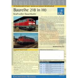 ESU Folder Neuheit 2011 - 2012 Baureihe 218