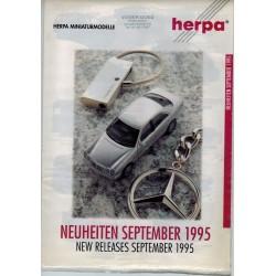 Herpa Flyer Miniturmodelle Neuheiten September 1995