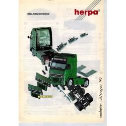 Herpa Flyer Miniturmodelle Neuheiten Juli/August '98