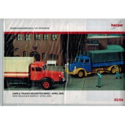 Herpa Folder Cars & Trucks Neuheiten März / April 2005
