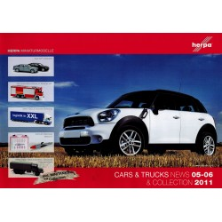 Herpa Brochure Cars & Trucks News & Collection 05-06 2011