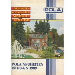 Pola Neuheiten brochure in H0 & N 1989