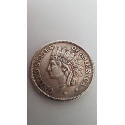 Dollar munt Met indiaan 1851 Reproductie