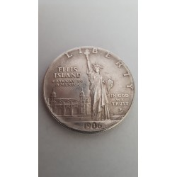 Dollar munt Liberty Ellis Island 1906 Reproductie