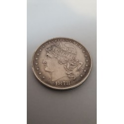 Dollar munt Goloid Metric dollar 1878 Reproductie