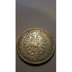 5 Fünf Mark 1876 Deutschen Reich Wilhelm Deutscher Kaiser König V. Preussen Reproductie