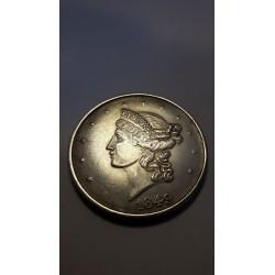 Dollar munt Liberty 1849 Twenty D Reproductie