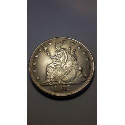 Dollar munt Liberty 1872 Reproductie