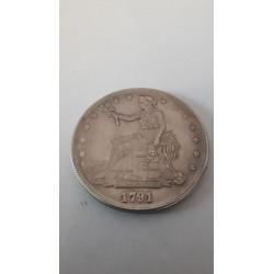 Dollar munt Trade dollar 1791 Reproductie