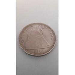 Dollar munt In God we Trust dollar 1847 Reproductie