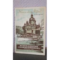 Naar den Rijn - Die Pfalz bei Caub - Officieele reisgids der Nederlandsche Stoomboot Reederij