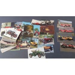 Ansichtkaarten met historische auto's dateert van rond 1995