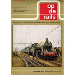 Op de rails 1981 Jubileumblad vijftig jaar