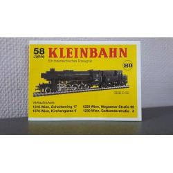Kleinbahn folders - flyers - informatie - Catalogus 58 Jahre