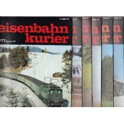 Eisenbahn Kurier Complete jaartal 1977 6 nummers