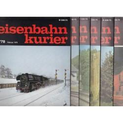 Eisenbahn Kurier Complete jaartal 1978 6 nummers