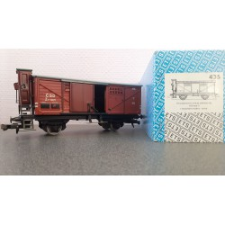 ETS 435 gesloten wagon CSD serie Z met remmershuis Spoor 0