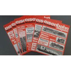 Eisenbahn magazin Modelbahn 1973 Losse nummers