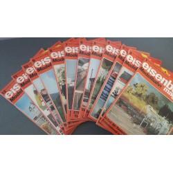 Eisenbahn magazin Modelbahn 1984 Compleet jaargang 12 Nummers