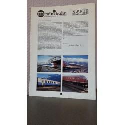 M Minibahn N-Spur informatieblad