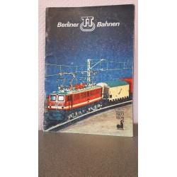 Berliner TT Bahnen 1977 -1978 Katalog