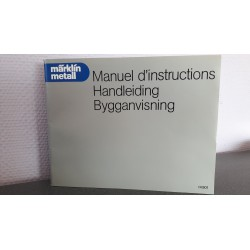 Märklin metall Manuel d'instructions Handleiding Bygganvisning 14901