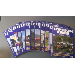 Eisenbahn Kurier - Ek-Verlag Complete jaartal 2002 12 nummers