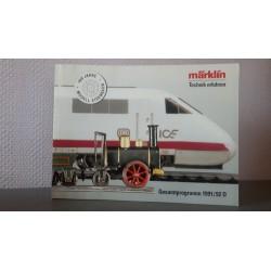 Marklin H0 Z en I catalogus Jaarboek 1991/1992 Duits