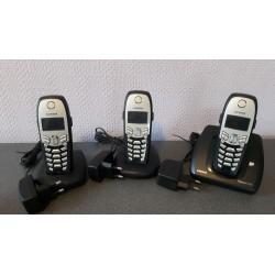 Siemens Gigaset C450 met 2 C45 basisstations Dect telefoon