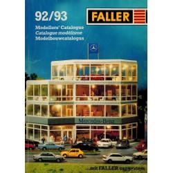 Faller catalogus 92/93 met prijslijst