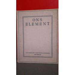 """Ons Element - ,,het Nederlandsche Zeewezen"""""""