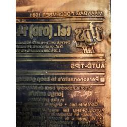 Oude kranten drukplaat Algemeen dagblad